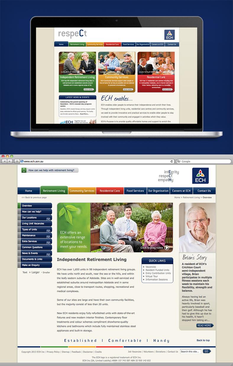 NrG Advertising Website Development for ECH Inc