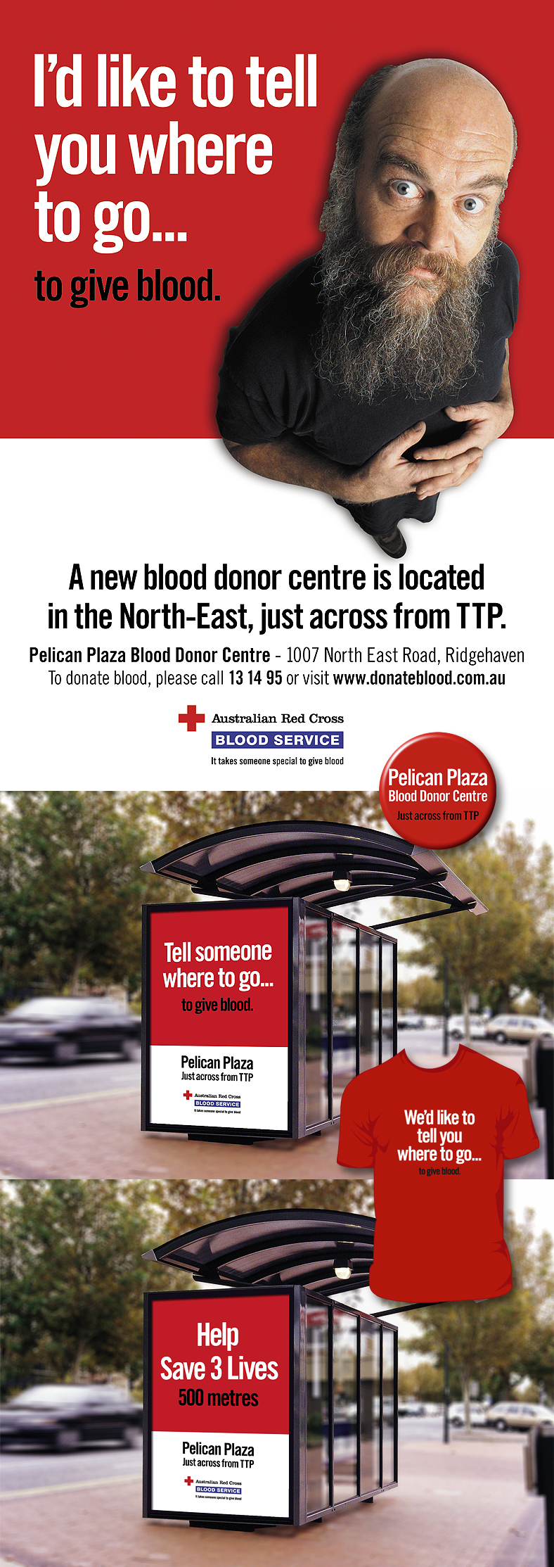 NrG Advertising Australian Red Cross Blood Service Launch Campaign