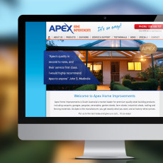 NrG Advertising Website Design for Apex Home Improvements