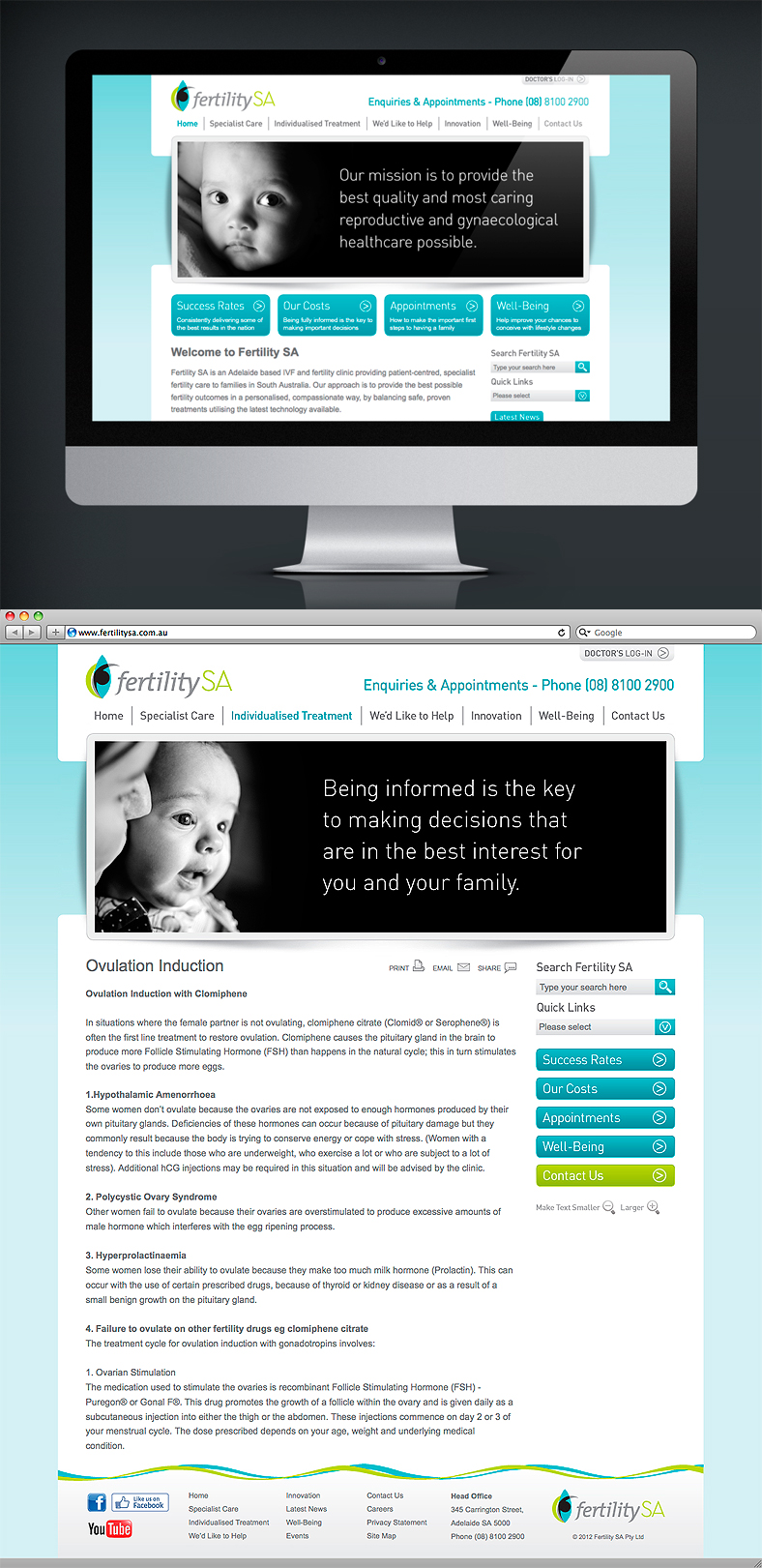 NrG Advertising Website Design for Fertility SA