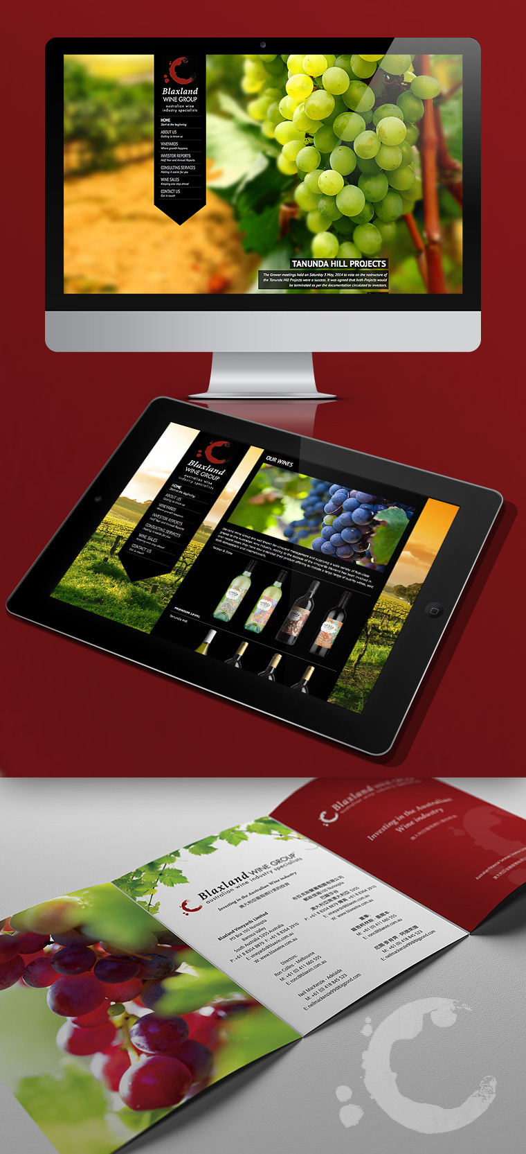 NRG Advertising Blaxland Wine Group Website