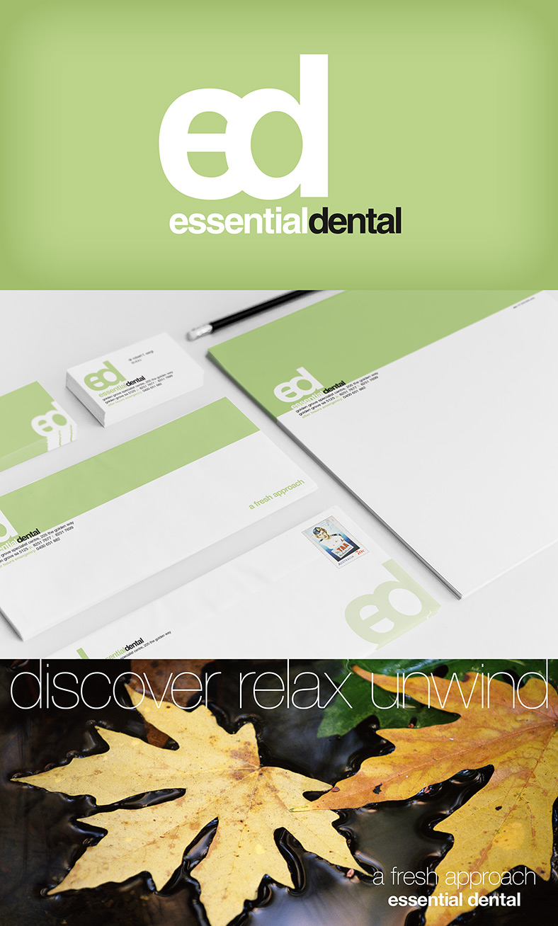 Essential Dental Golden Grove Dentist Corporate Branding and Direct Mail Campaign developed by NRG Advertising Adelaide