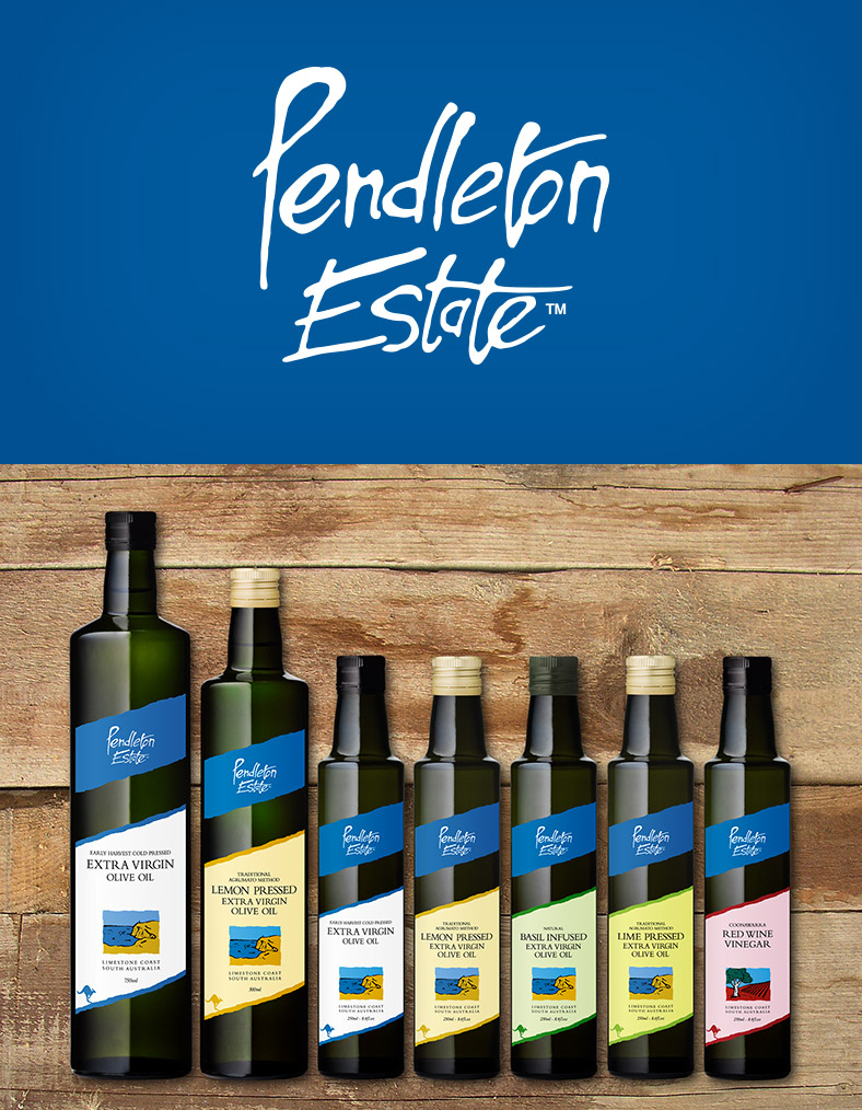 Pendleton Estate Fine Foods Adelaide Logo Design, Label design and Corporate Branding