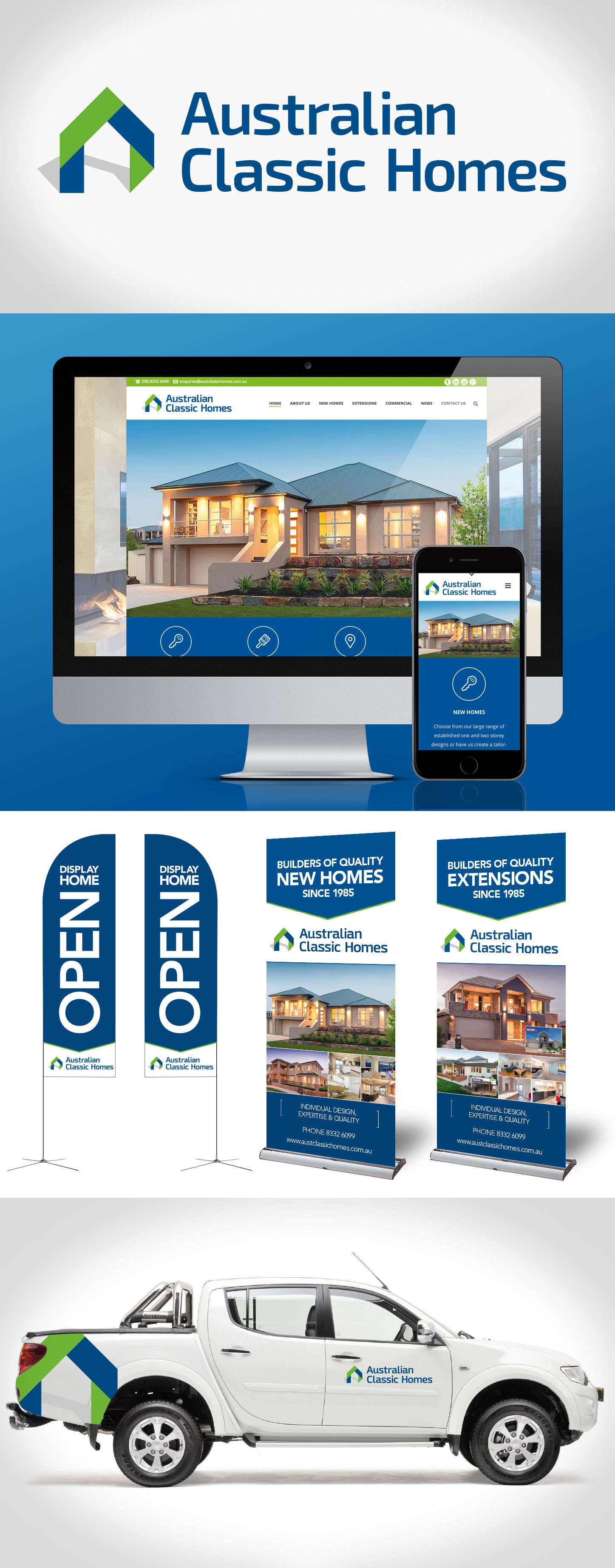 Australian Classic Homes Corporate Rebranding & Website Development