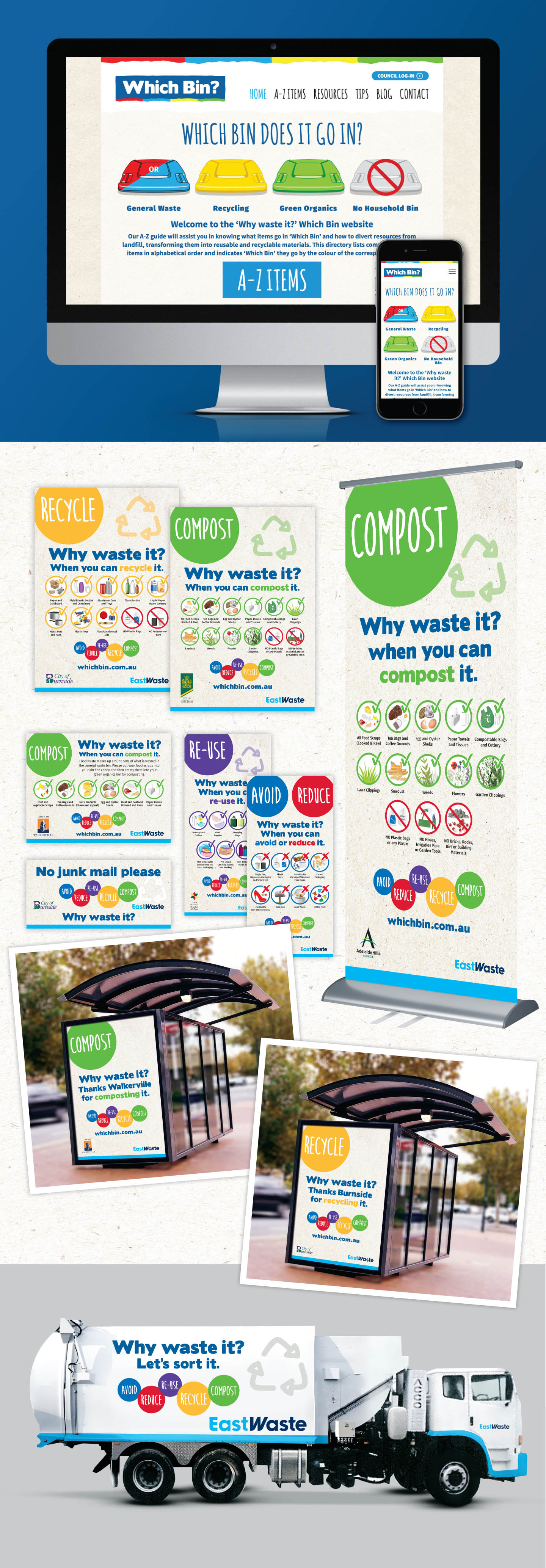 East Waste Which Bin Website Development & Marketing Campaign